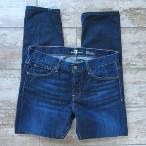 7 For All Mankind Jeans Rhigby Dark Straight Leg